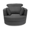 Bliss Large Swivel Chair Grey