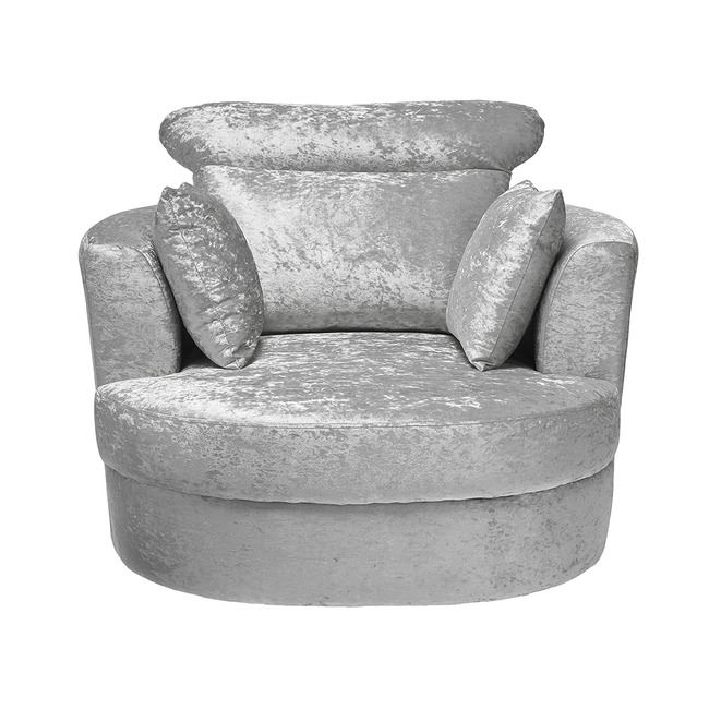 Bliss Swivel Chair - Silver or Grey (Chair Colour: Silver, Chair Size: Large)