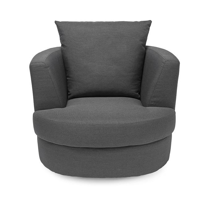 Bliss Small Swivel Chair Grey