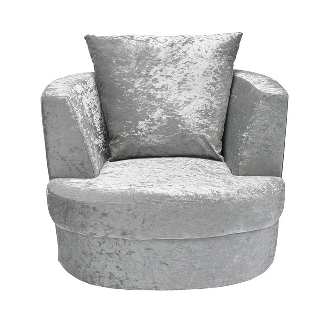 Bliss Small Swivel Chair Silver