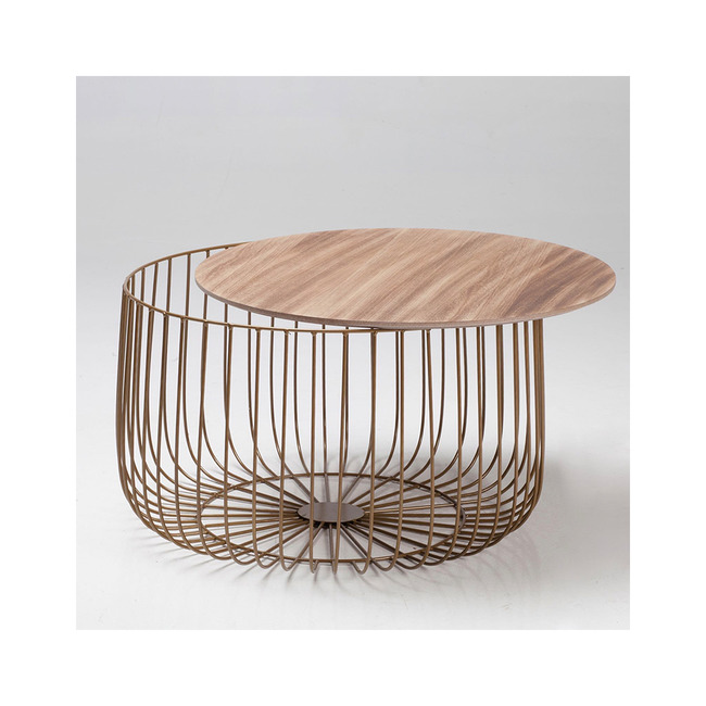 Enzo Cage Coffee Table - Oak or Marble (Colour: Oak)