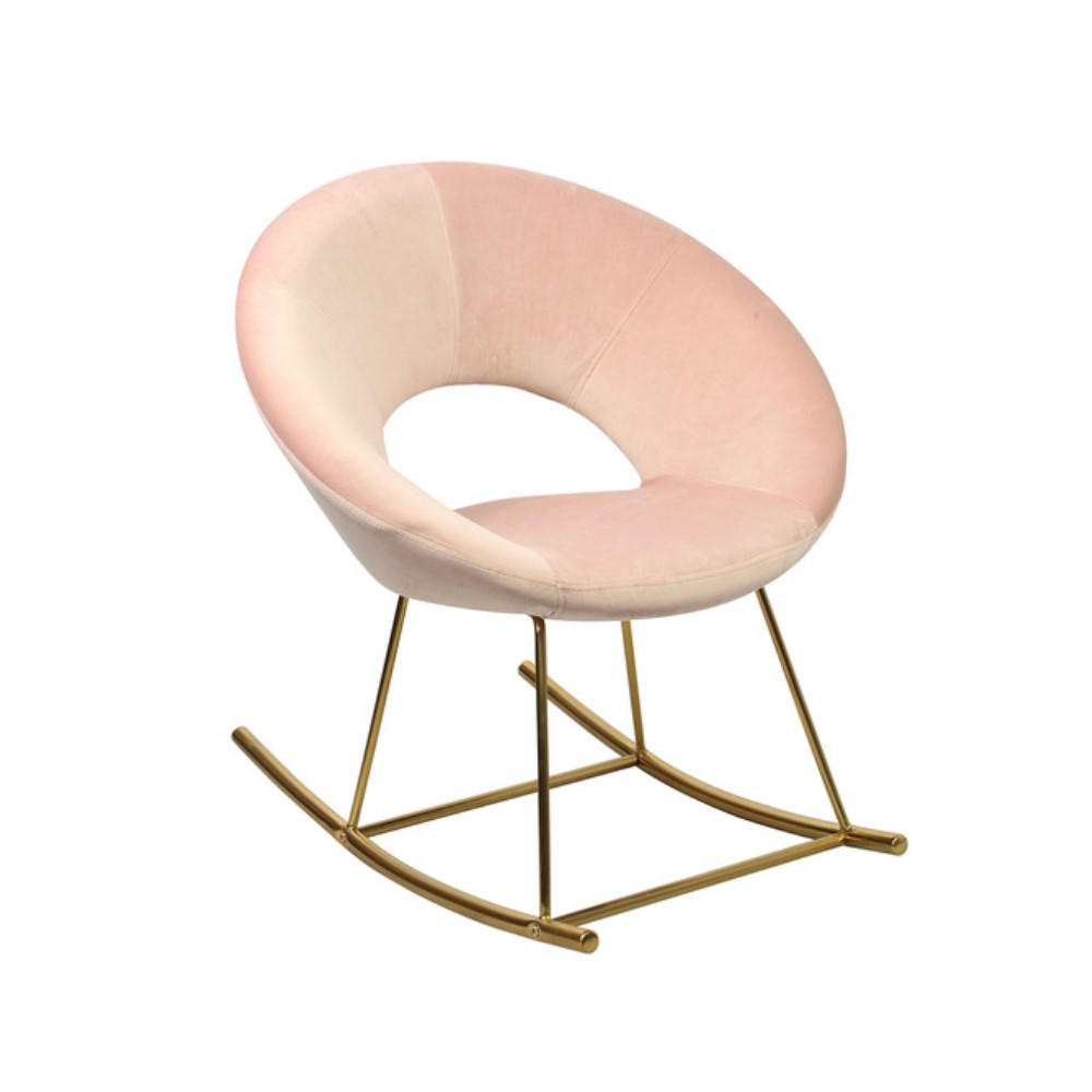 Stella Vintage Rocking Chair - Pink Velvet