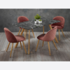Venice Black Dining Table chairs