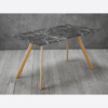 Venice Black Dining Table effect