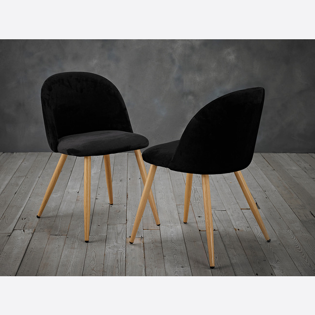 Venice Dining Chairs Black lifestyle