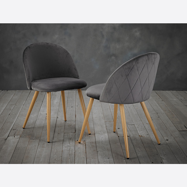 Venice Dining Chairs Grey lifestyle