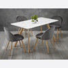 Venice White Dining Table chairs