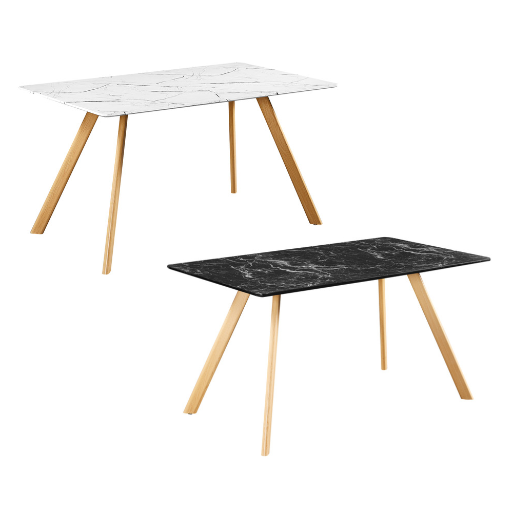 Venice Marble Dining Table - White or Black (Colour: Black)