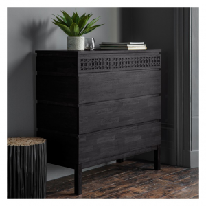 Boho Boutique 4 Drawer Chest-Black