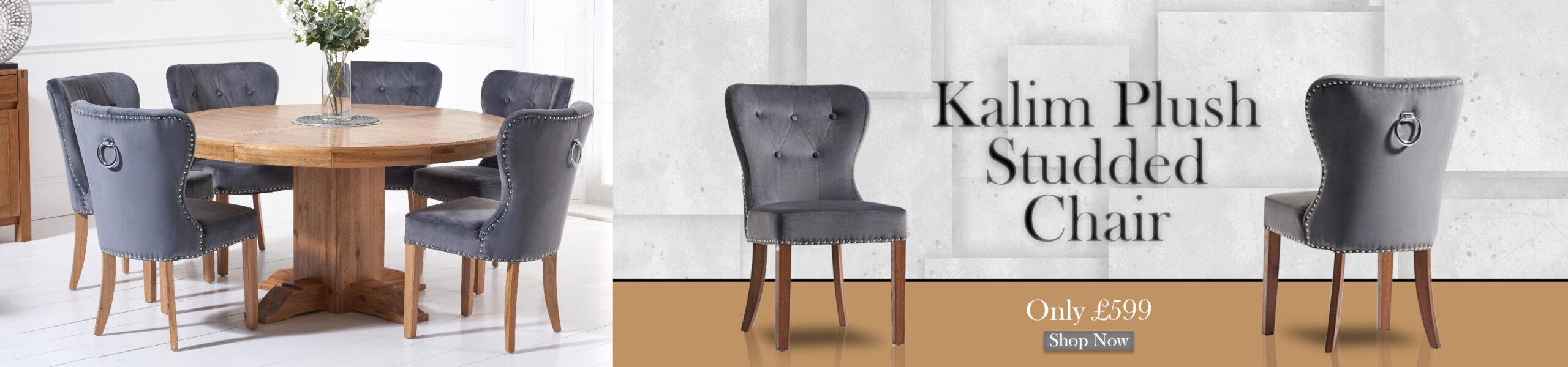 FADS Kalim Plush Studded Chair Banner